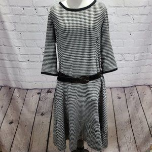 Lennie Fit and Flare with Belt 3/4 sleeves